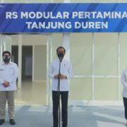 Jokowi Resmikan RS Modular Tanjung Duren Yang Dibangun Pertamina